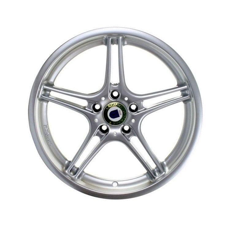 chrome star 5 spoke car tire rim automotive product photography example