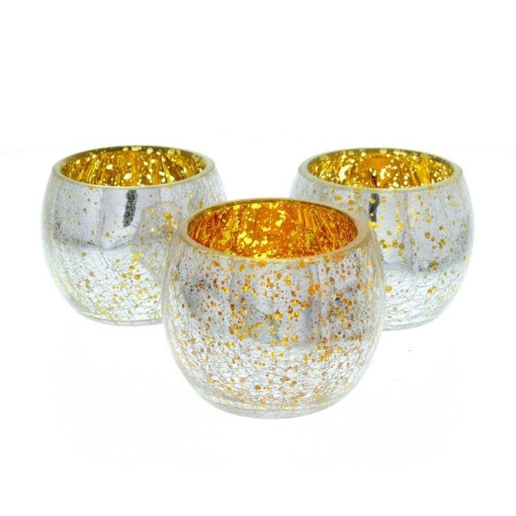 silver and orange candle holders for home decor product photography example