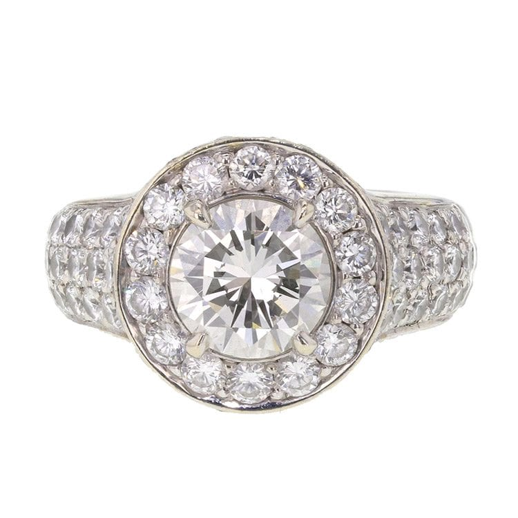 front facing diamond ring bright sparkling product photography example