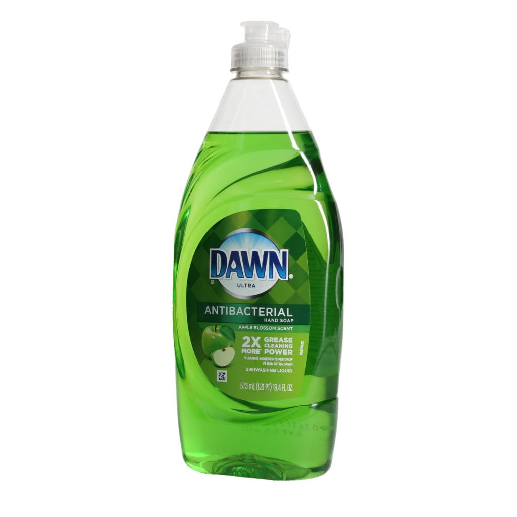 Ortery photography example grocery products Green Dawn Soap on pure white background
