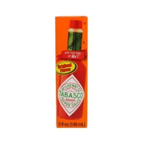 Ortery photography example grocery industry red tobasco on pure white