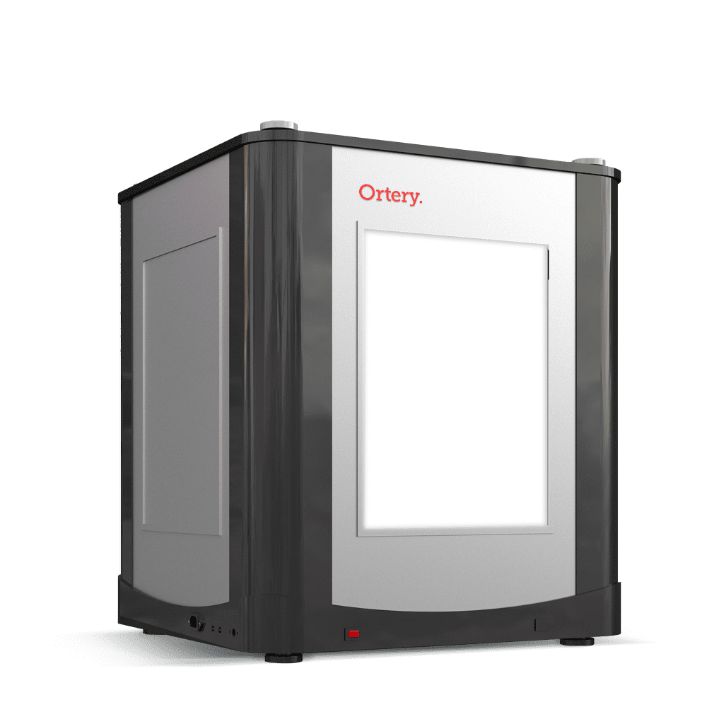 The Ortery 2D PhotoBench 120 Shoe Photography Lightbox and software