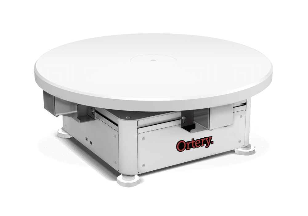 Ortery PhotoCapture 360S product photography turntable with software to automate image capture and 360 stitching