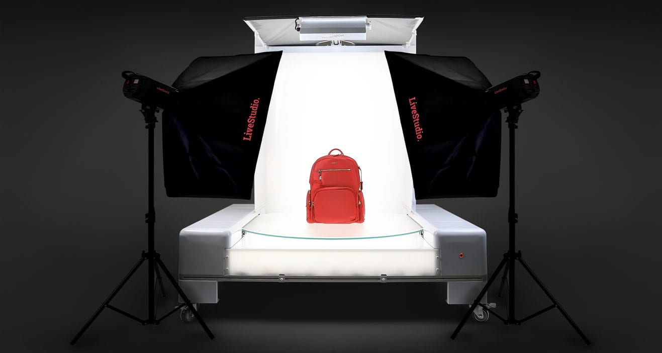 Ortery LiveStudio LED Studio Light Kits with software allows you to add a turntable for automated 360 product views.