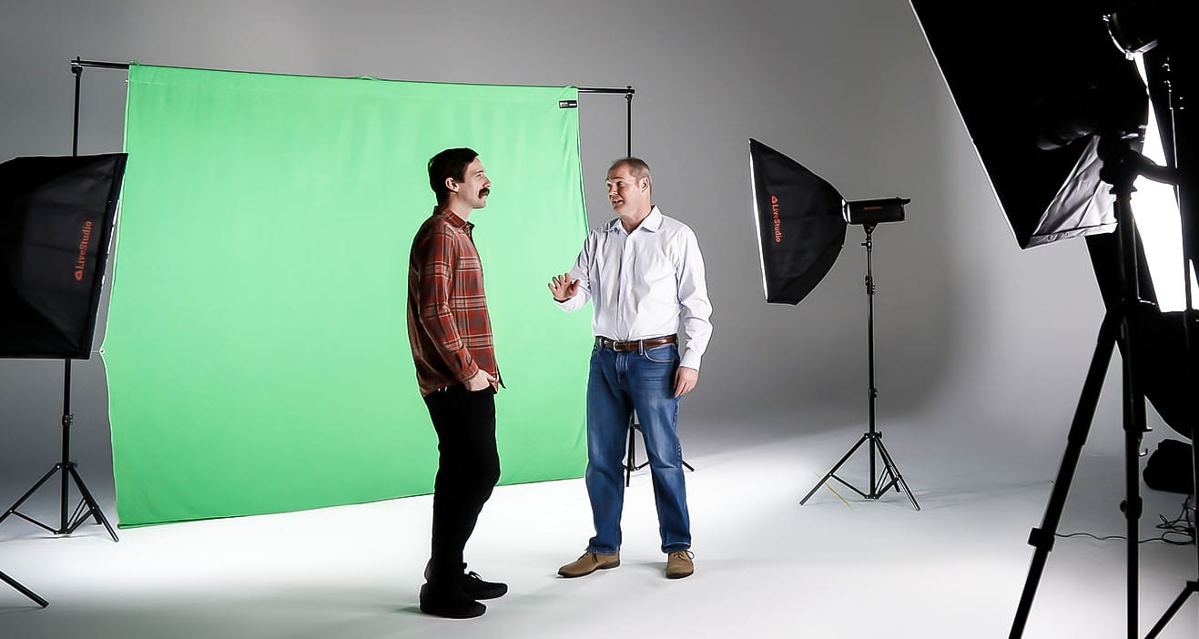 Use Ortery LiveStudio with a green screen