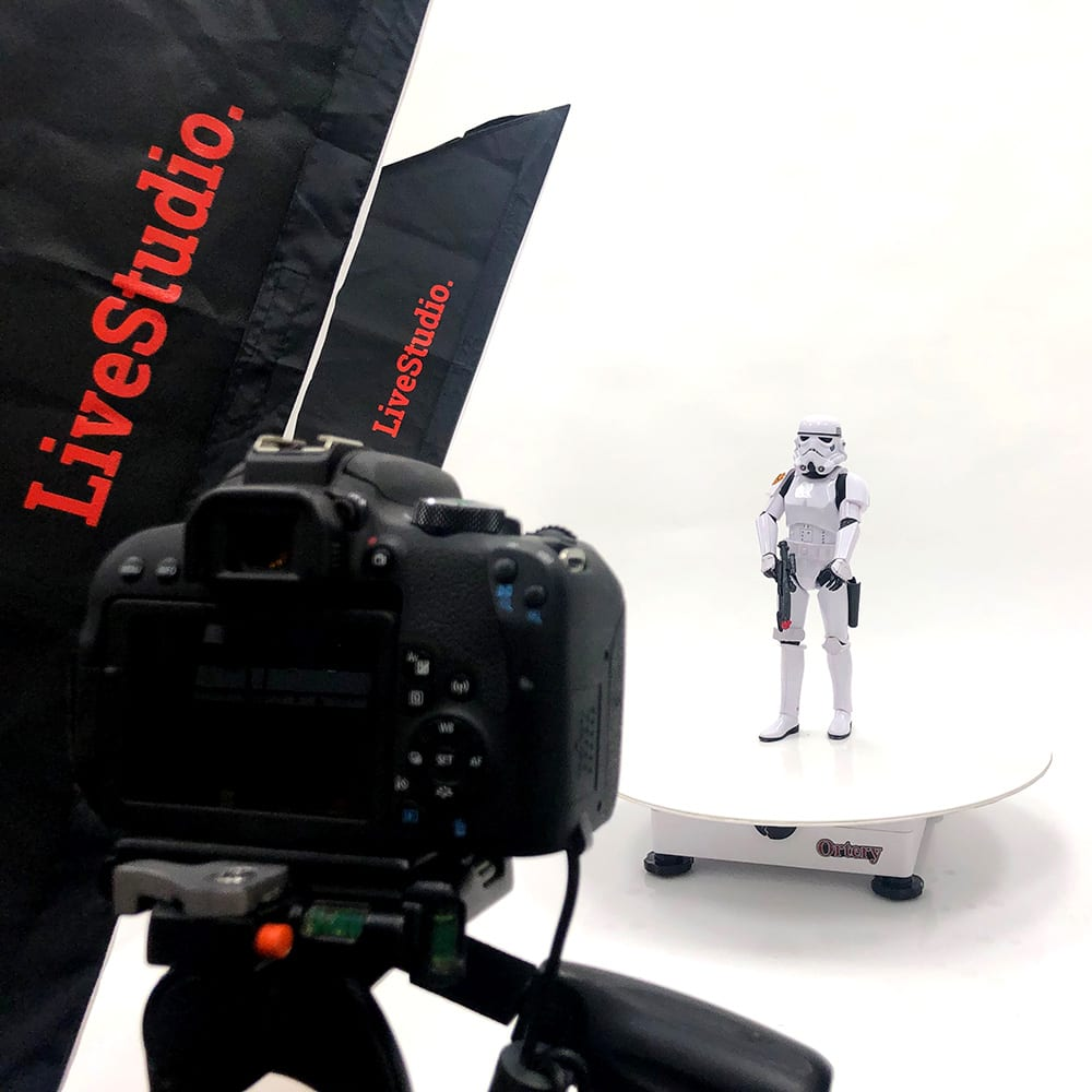 Ortery PhotoCapture 360 Turntable in Use with LiveStudio Studio Lights
