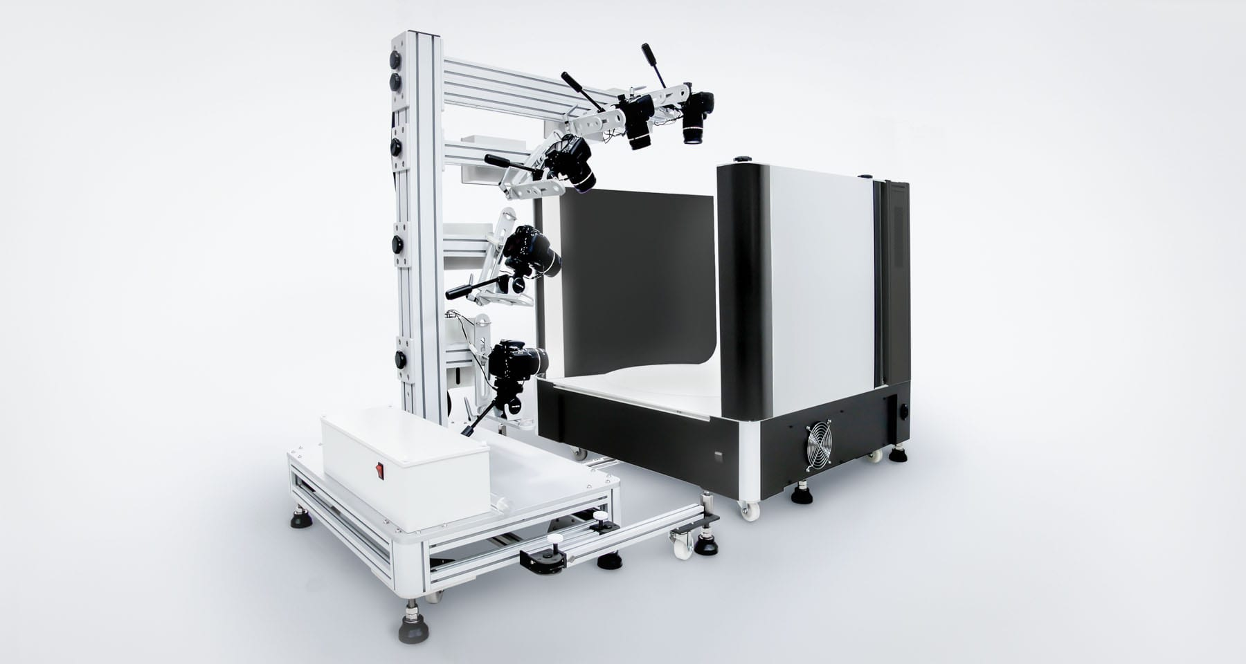 Multi-camera 3D Photography Solution - Ortery 3D MultiArm with a 3D PhotoBench 260T