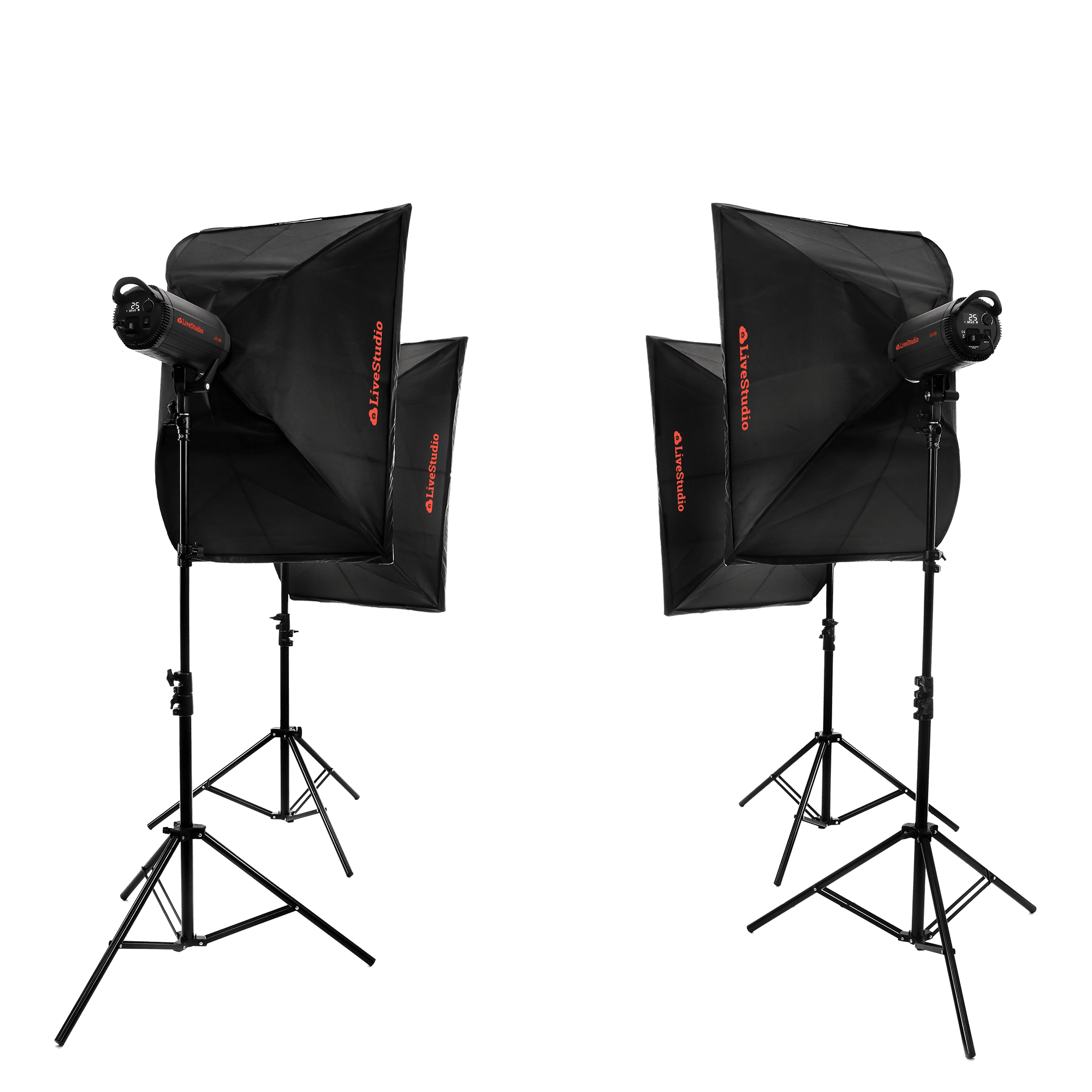 Ortery LiveStudio - 4 light product photography kit and software