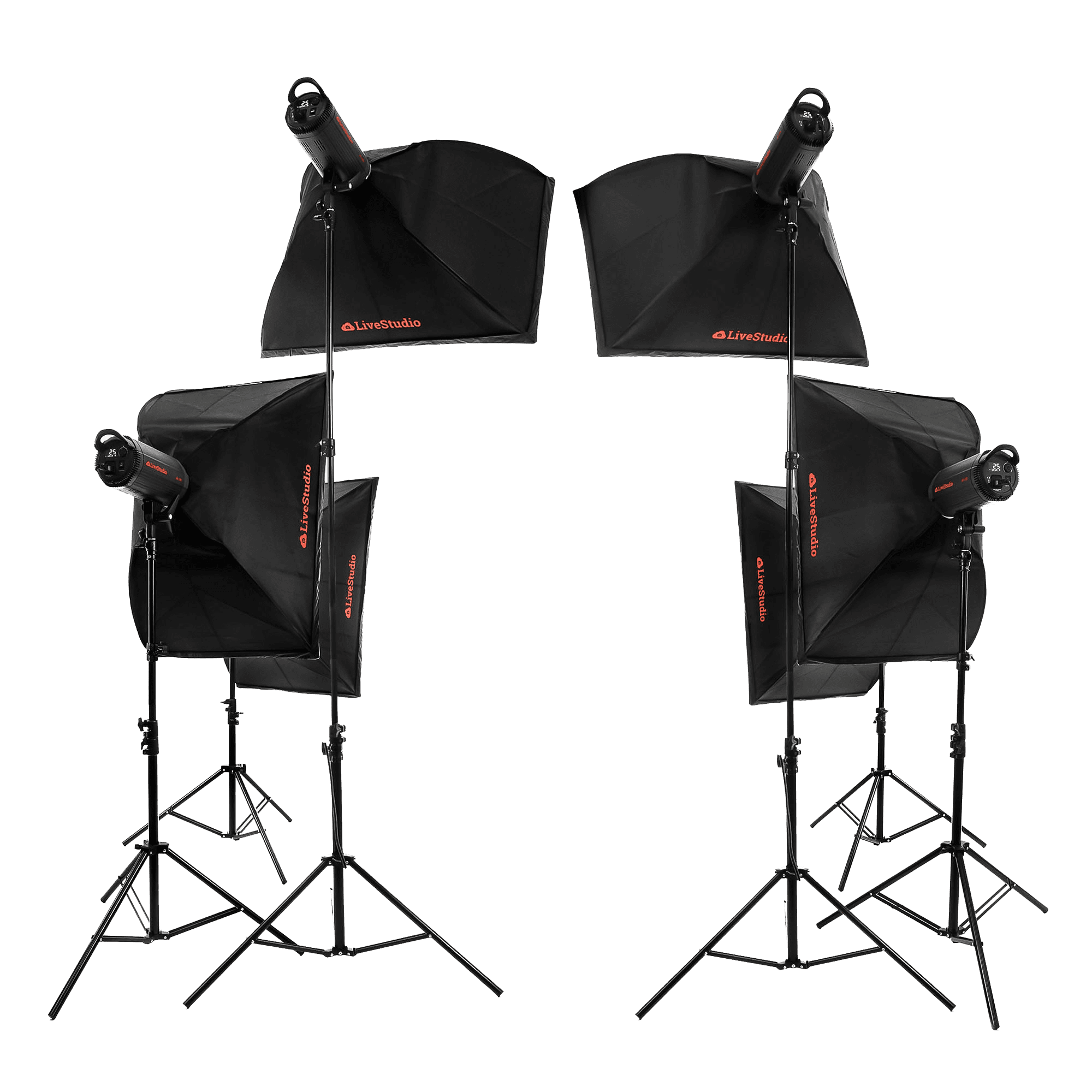 Ortery LiveStudio - 6 light product photography kit and software