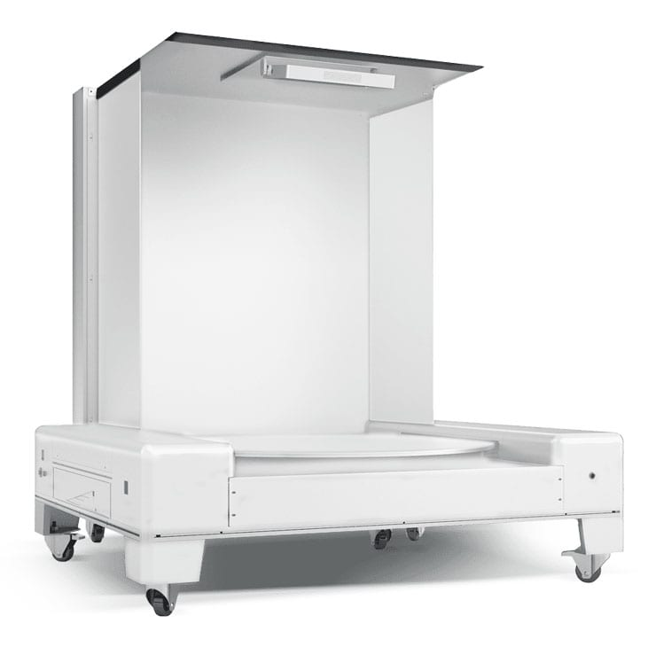 The Ortery Infinity Studio 2000 is a software controlled, product photography system with a bottom-lit turntable for creating 360 product photos on a pure white or transparent background.